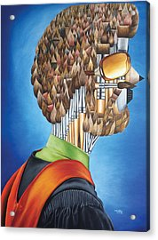 Portrait Of An Artist - Jim Meaders 1984 Acrylic Print