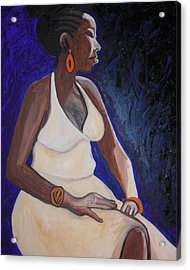 Portrait Of An Ethiopian Woman Acrylic Print by Esther Newman-Cohen