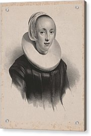 Portrait Of Anna Roemers Visscher, Anonymous Acrylic Print by Anonymous