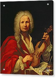 Portrait Of Antonio Vivaldi Acrylic Print by Italian School