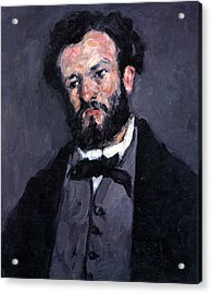 Portrait Of Antony Valabrgue By Cezanne Acrylic Print by John Peter