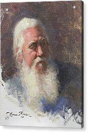 Portrait Of Artist Michael Mentler Acrylic Print by Anna Rose Bain