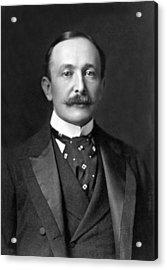 Portrait Of August Belmont Jr. Acrylic Print by Underwood Archives