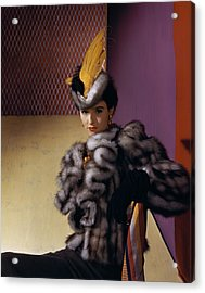 Portrait Of Babe Paley Acrylic Print by Horst P. Horst
