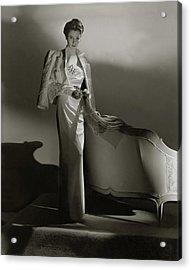 Portrait Of Barbara Cushing Acrylic Print