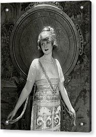 Portrait Of Billie Burke Acrylic Print by Adolphe De Meyer