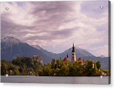 Acrylic Print featuring the photograph Portrait Of Bled Slovenia by Graham Hawcroft pixsellpix
