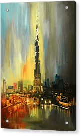 Portrait Of Burj Khalifa Acrylic Print by Corporate Art Task Force