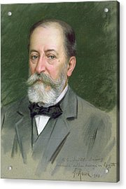 Portrait Of Camille Saint-saens Acrylic Print by Alberto Rossi