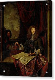 Portrait Of Carel Quina 1620-89, Knight Of The Holy Acrylic Print