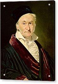Portrait Of Carl Friedrich Gauss, 1840 Oil On Canvas Acrylic Print by Christian-Albrecht Jensen