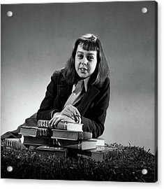 Portrait Of Carson Mccullers Acrylic Print by John Rawlings