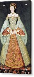 Portrait Of Catherine Parr , 1545 Acrylic Print
