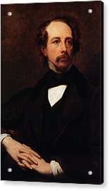 Portrait Of Charles Dickens Acrylic Print