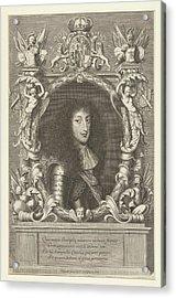 Portrait Of Charles Emmanuel II, Robert Nanteuil Acrylic Print by Robert Nanteuil
