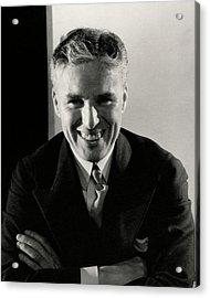 Portrait Of Charlie Chaplin Acrylic Print