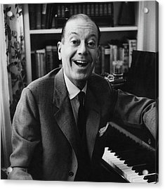 Portrait Of Cole Porter Sitting At His Piano Acrylic Print by Frances Mclaughlin-Gill