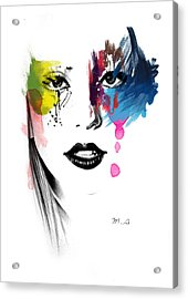 Portrait Of Colors   Acrylic Print by Mark Ashkenazi