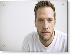 Portrait Of Confident Man With Blonde Beard Acrylic Print by Hero Images