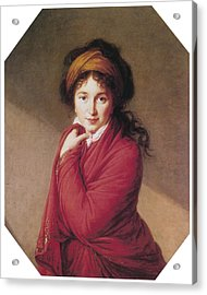 Portrait Of Countess Golovin Acrylic Print by Marie Louise Elisabeth Vigee-Lebrun
