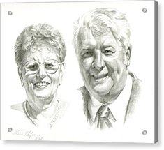 Portrait Of Couple. Commission. Acrylic Print