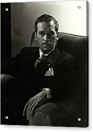 Portrait Of Douglas Fairbanks Jr Acrylic Print by Horst P. Horst