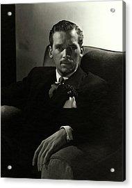 Portrait Of Douglas Fairbanks Jr Acrylic Print
