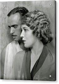 Portrait Of Douglas Fairbanks St. And Mary Acrylic Print