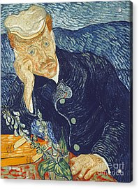 Portrait Of Dr Gachet Acrylic Print by Vincent Van Gogh