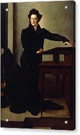Portrait Of Eduard Gans 1829 Acrylic Print by Wilhelm Hensel