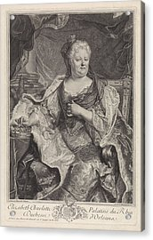 Portrait Of Elizabeth Charlotte Of The Palatinate Acrylic Print