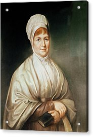 Portrait Of Elizabeth Fry 1780-1845 Acrylic Print by English School