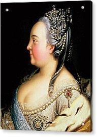 Portrait Of Elizabeth Petrovna Empress Of Russia Acrylic Print by Heinrich Buchholz