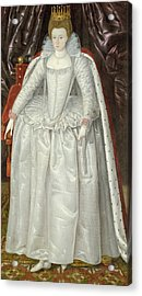 Portrait Of Elizabeth Vernon, Countess Acrylic Print