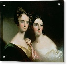 Portrait Of Ellen And Mary Mcilvaine, 1834 Oil On Canvas Acrylic Print