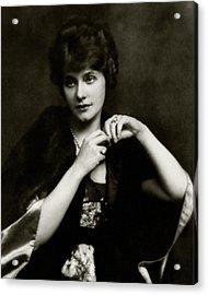 Portrait Of Elsie Ferguson Acrylic Print by Arnold Genthe