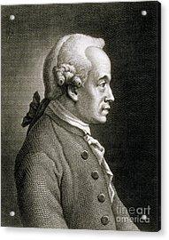 Portrait Of Emmanuel Kant Acrylic Print by French School