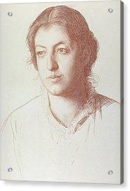 Portrait Of Euterpe Ionides Acrylic Print