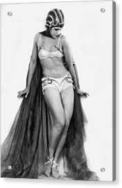 Portrait Of Exotic Dancer Acrylic Print by Underwood Archives