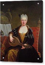Portrait Of Faustina Bordoni, Handels Singer Acrylic Print
