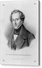 Portrait Of Felix Mendelssohn Designed Acrylic Print