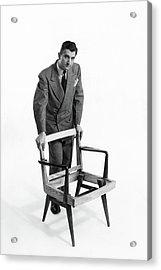 Portrait Of Furniture Designer Jens Risom Acrylic Print by Herbert Matter