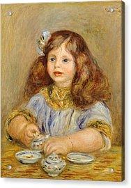 Portrait Of Genevieve Bernheim De Villiers Acrylic Print by Pierre-Auguste Renoir