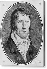 Portrait Of Georg Wilhelm Friedrich Hegel  Acrylic Print by FW Bollinger