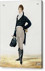 Portrait Of George Beau Brummell Acrylic Print by Robert Dighton