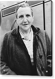 Portrait Of Gertrude Stein Acrylic Print by Underwood Archives