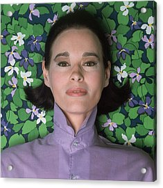 Portrait Of Gloria Vanderbilt Acrylic Print by Gianni Penati