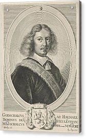 Portrait Of Godschalck Of Halmale, Reinier Van Persijn Acrylic Print