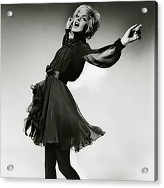 Portrait Of Goldie Hawn Acrylic Print