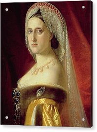 Portrait Of Grand Duchess Maria Nikolaevna Acrylic Print by Russian School